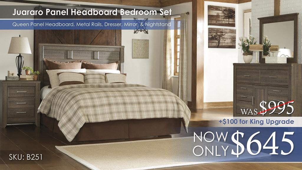 Juararo Panel Headboard Set B251-31-36-39-57-92(1)-ALT