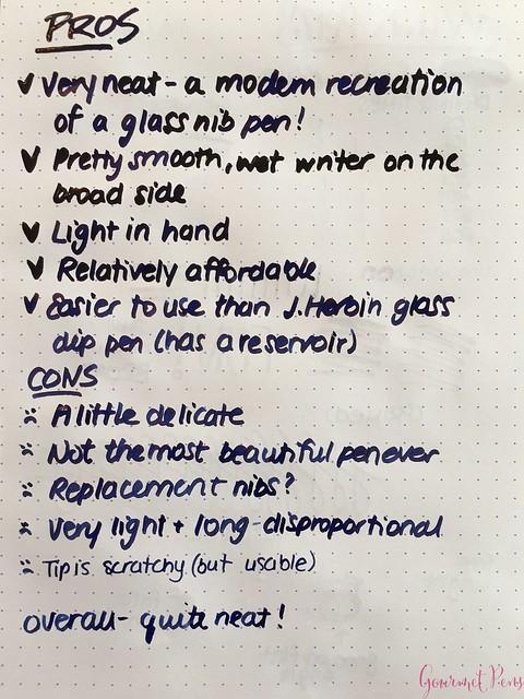 Review @WinkPens Glass Nib Pen from @Massdrop 20