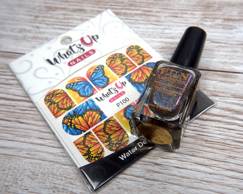 Whats Up Nails Flying Flowers water decals