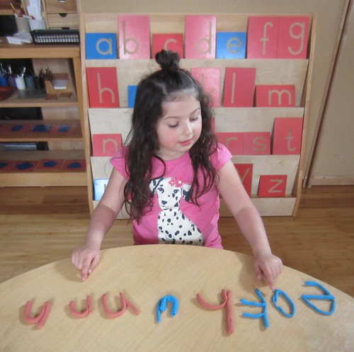 letters out of clay
