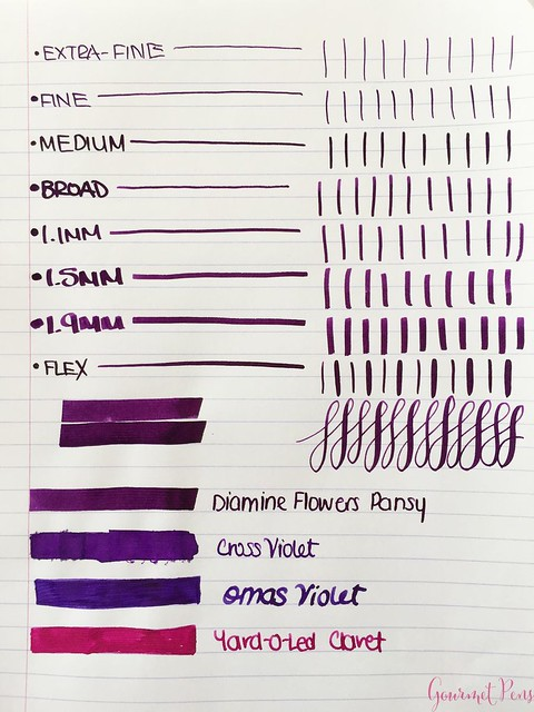 Ink Shot Review Diamine Flowers Pansy @AppelboomLaren 2