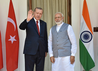 Prime Minister meets Recep Tayyip Erdogan, President of Turkey at Hyderabad House during his State Visit to India (May 01, 2017) | by MEAphotogallery