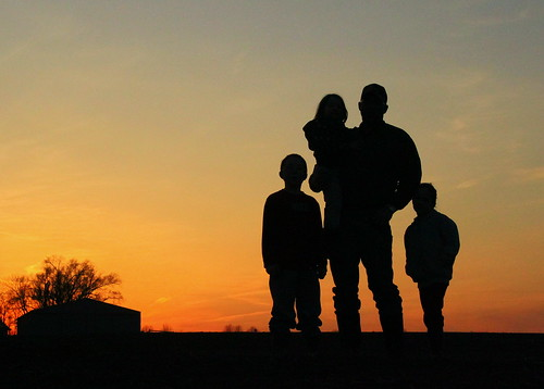 Laurie Link Silhouette Of A Farm Family Missouri