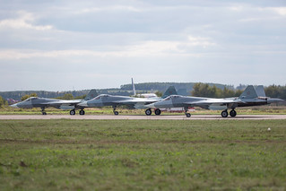 3 x T-50 PAK-FA before takeoff | by RealHokum
