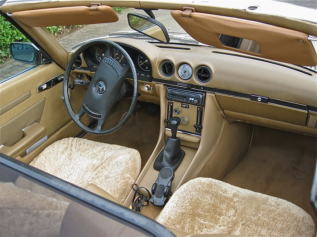 70s mercedes benz w107 350 sl cabriolet interior view flickr. Black Bedroom Furniture Sets. Home Design Ideas