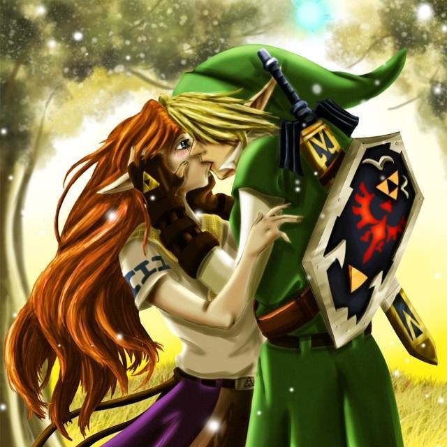 link and zelda link zelda kissing anime videogame to flickr