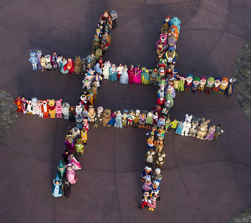 140 Disney Character Hashtag