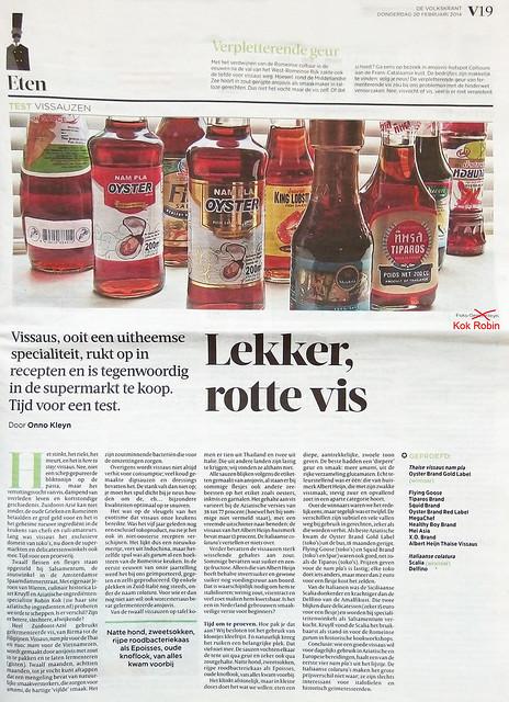 Lekker, rotte vis. Volkskrant Februari2014