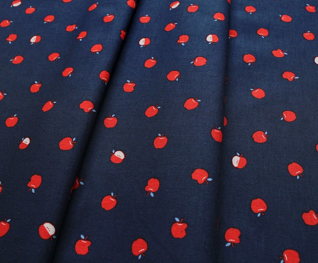 COTTON+STEEL S.S. Bluebird 5102-01 Apples Navy