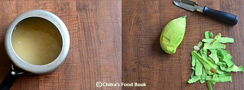 Raw mango dal - Andhra Mamidikaya Pappu