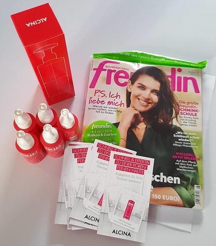 Ich darf beim #Produkttest des #alcina Skin Manager von der Freundin-Trend-Lounge mitmachen. Das hier ist mein #Testpaket.