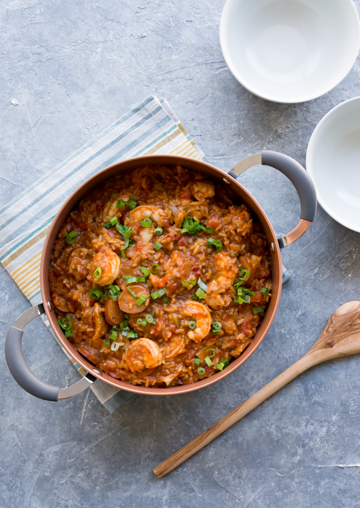 Chicken, Shrimp and Andouille Sausage Jambalaya (Photo) www.pineappleandcoconut.com