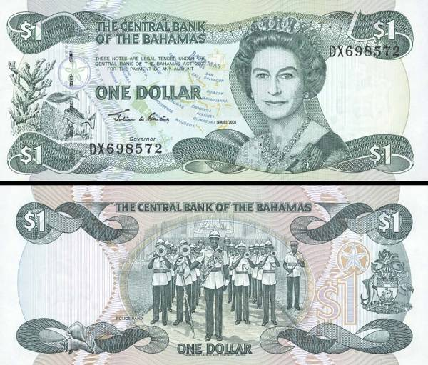 1 Dolár Bahamy 2002, P70