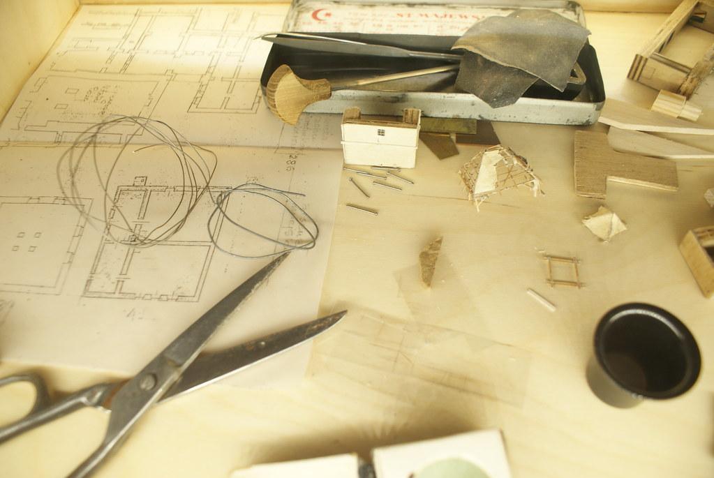 > Elements de construction visibles dans le musée consacré au Panorama de Lwow.
