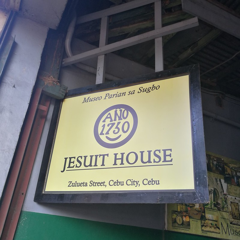 Davao Life In Cebu via AirAsia : Walking Heritage Tour by Galleon San Pedro Tours 1730 Jesuit House signage IMG_20170422_164405