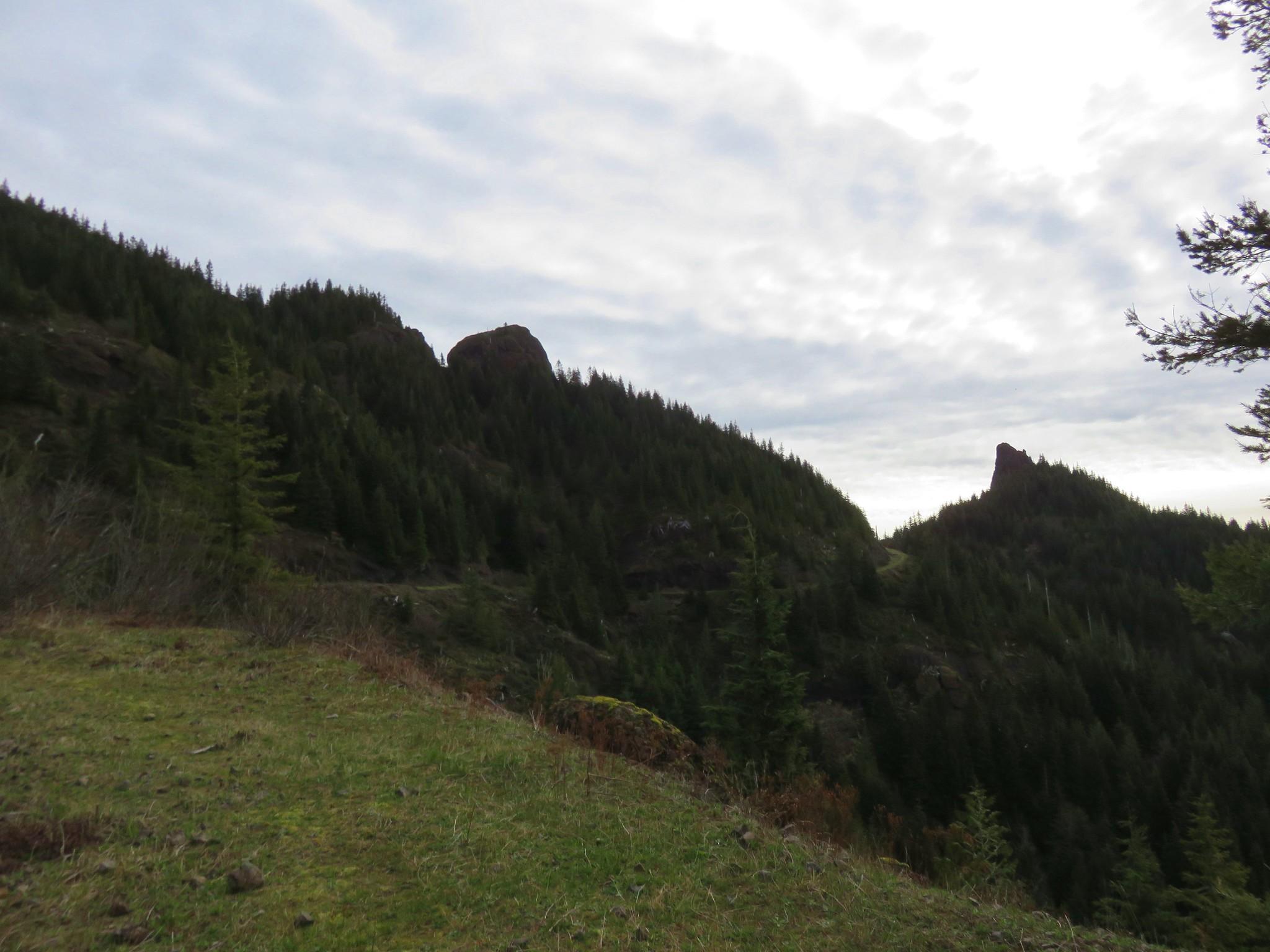 Revenge of Angora and Little Angora rock pinnacles