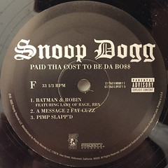 SNOOP DOGG:PUT THA COST TO BE DA BO$$(LABEL SIDE-F)