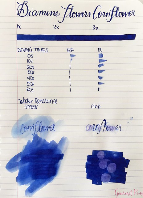 Ink Shot Review Diamine Flowers Cornflower @AppelboomLaren  1
