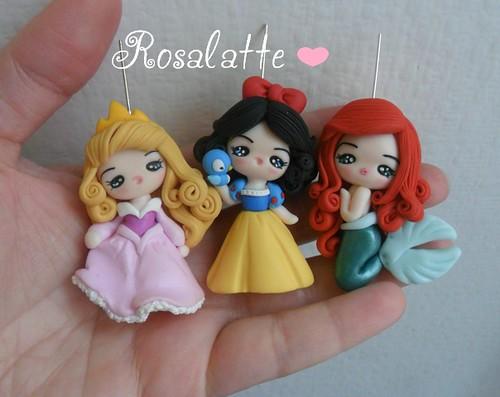 Pendants Princesses Disney Fimo | Flickr - Photo Sharing!