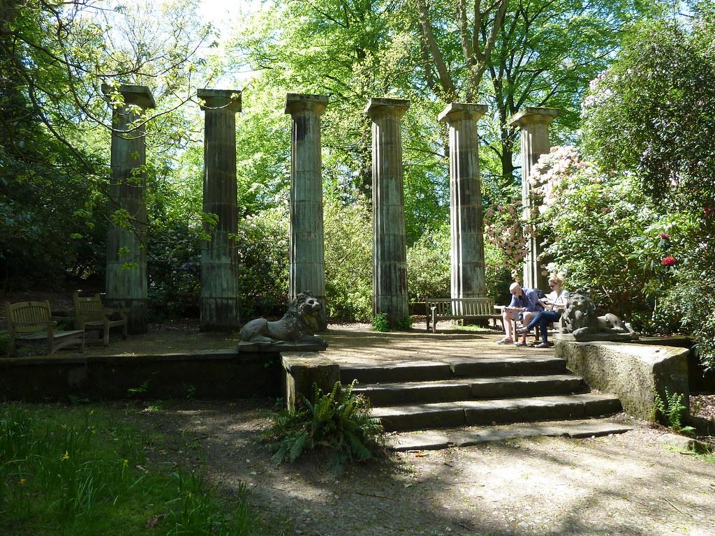 Doric Columns Rhs Garden Harlow Carr Harrogate Yorkshire