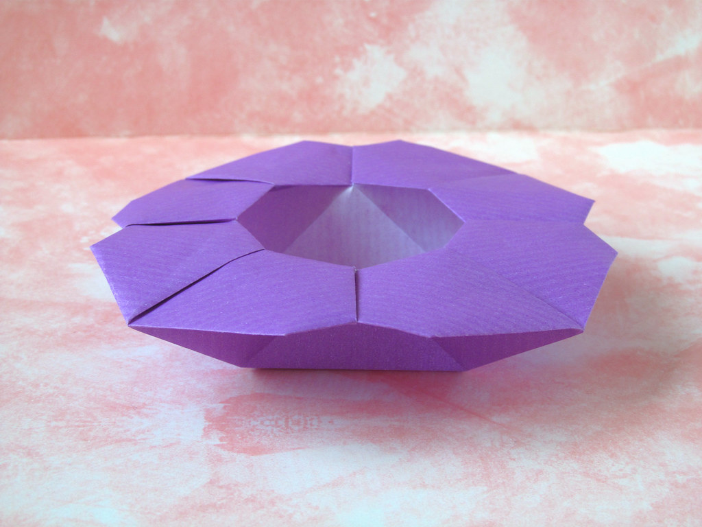 Scatola A Fiore Flower Box Origami From A Sheet Of Kraf Flickr