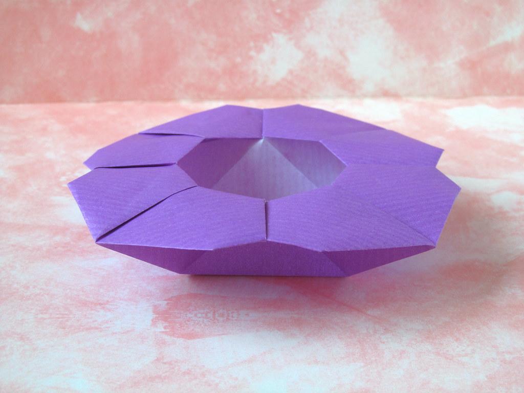 Scatola a fiore flower box origami from a sheet of kraf flickr scatola a fiore flower box by francesco guarnieri mightylinksfo