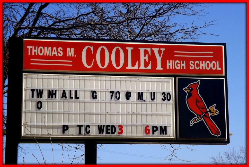 Sign Thomas M Cooley High School Detroit Mi The