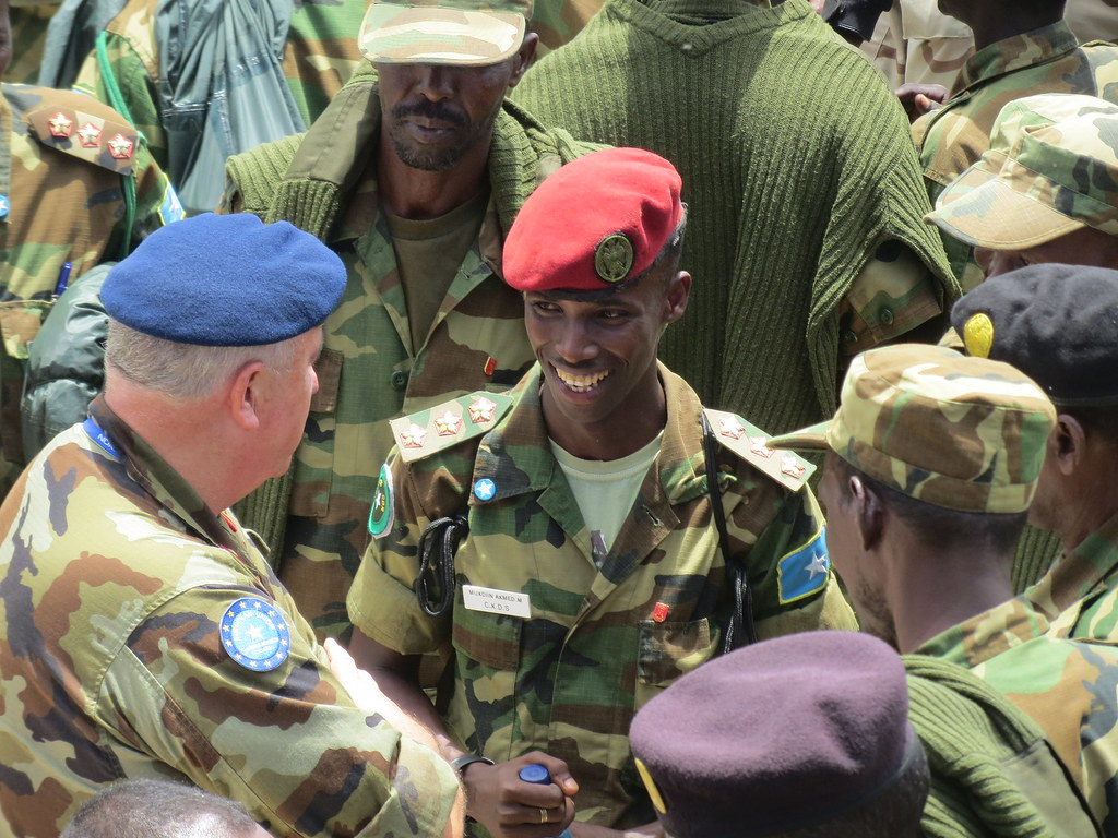 Gen aherne greetings somali soldiers after their repatri flickr aherne greetings somali soldiers after their repatriation from uganda at the mogadishu m4hsunfo
