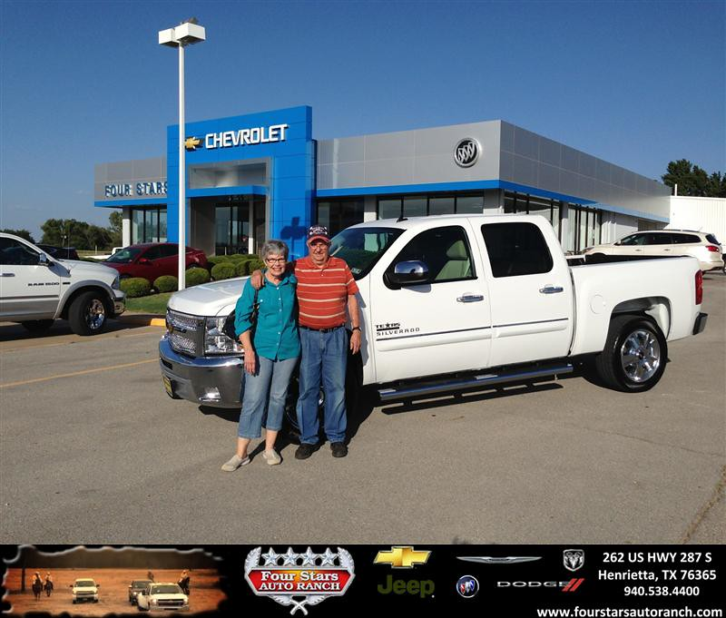 Four Stars Auto Ranch >> Thank you to Arlen And Billye Shook on your new 2012 Chevr… | Flickr