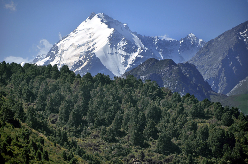Tien Shan mountain range near Bishkek, Kyrgyzstan.   Flickr