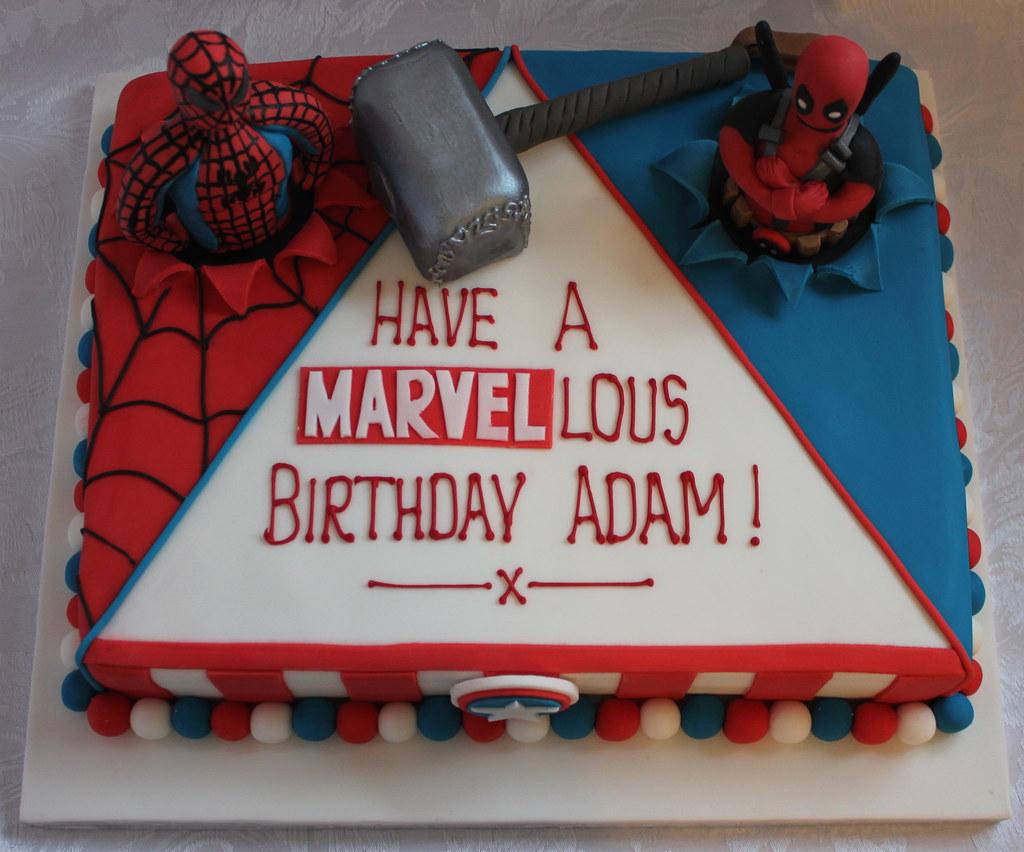 Marvel Comic Birthday Cake Pauls Creative Cakes Flickr