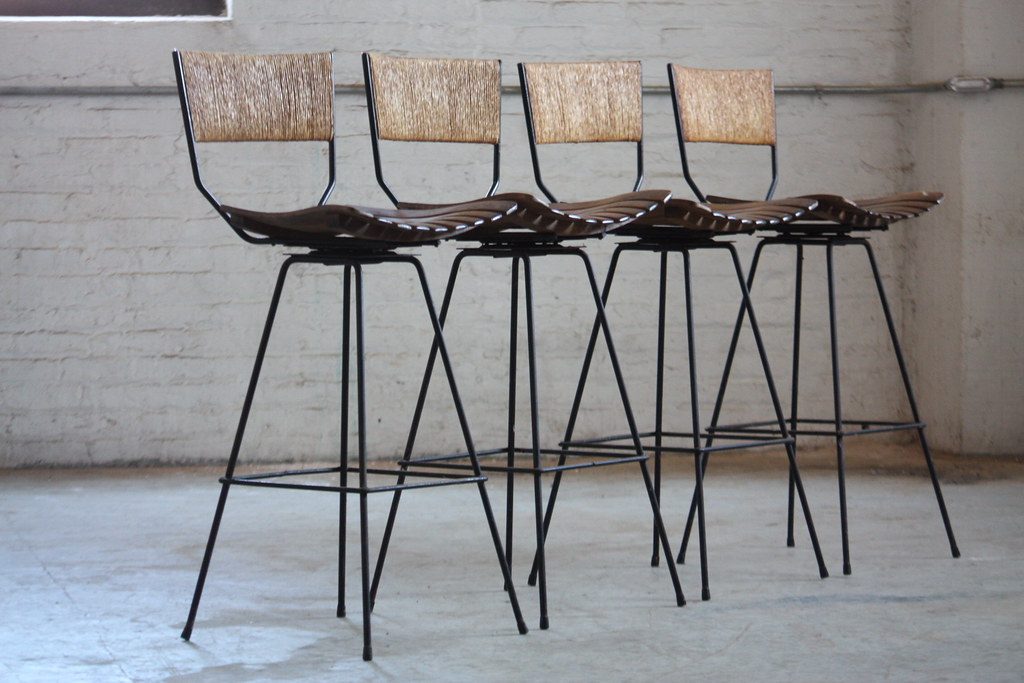 ... Determined Arthur Umanoff Mid Century Modern Rush Back Swivel Wrought Iron Bar Stools for Raymor ( & Determined Arthur Umanoff Mid Century Modern Rush Back Swiu2026 | Flickr islam-shia.org