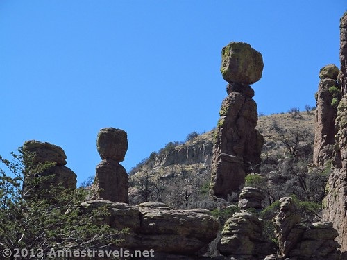 Rock formations along the Echo Canyon Trail in Chiricahua National Monument, Arizona