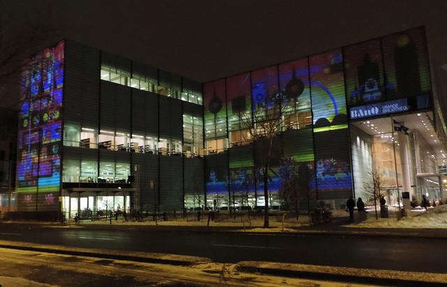 Luminothérapie, Trouve Bob, BAnQ, Quartier des spectacles, 2014