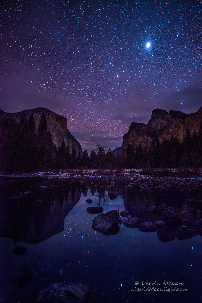 In Car Camera >> Yosemite Valley by Starlight | The slow running Merced ...