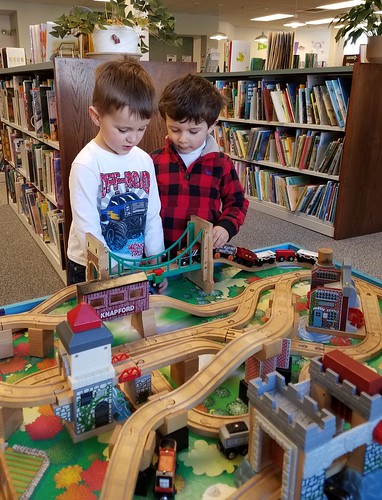 trains over the bridge