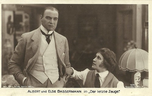 Albert Bassermann and Else Bassermann in Der letzte Zeuge