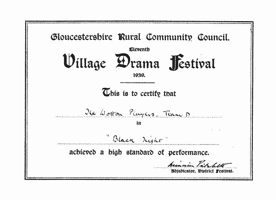 1939-Drama-Festival-Certificate