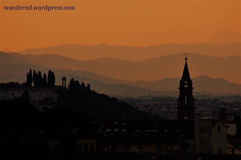 Ausblick auf Oltrarno vom Piazzale Michelangelo
