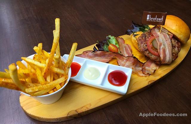Brotzeit German Bier Bar & Restaurant - Pork Burger