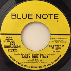 LOU DONALDSON:SASSY SOUL STRUT(LABEL SIDE-B)
