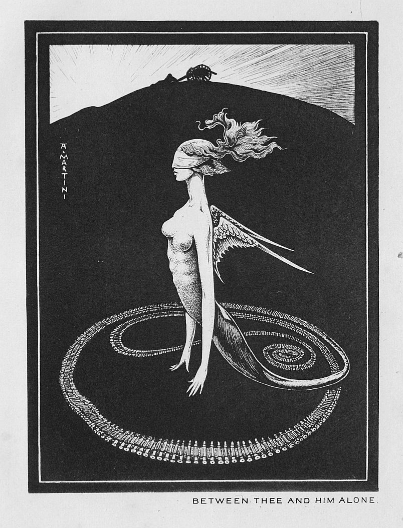 "Alberto Martini - Illustration from ""Between Thee And Him Alone"" published in ""Raw Edges"" by Perceval Landon, 1908"