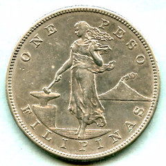 1906 Philippine One Peso obverse