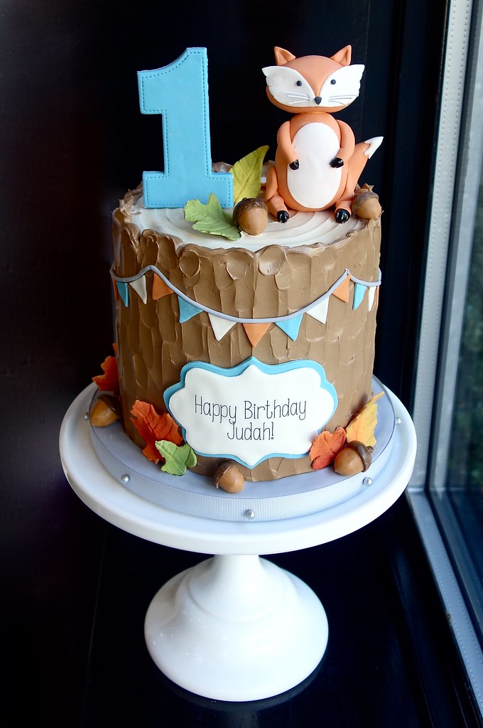 Woodland Fox First Birthday Cake Sasa Flickr