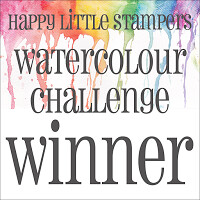 Happy Little Stampers - Watercolour Winner Badge