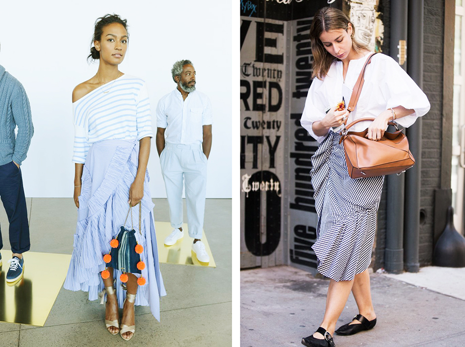 how-to-wear-ruffle-skirt-2017