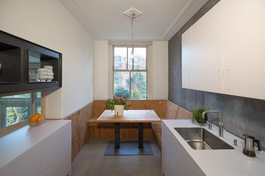 Keuken Met Zithoek : Herenhuis Heemraadssingel // nieuwe keuken met zithoek van sloophout