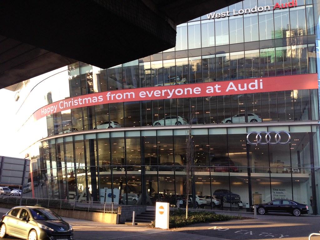 Audi West London Christmas Bow Digital Print Window Graphi