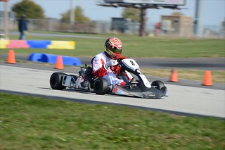 Sage Karam during the opening stages of the 2013 RoboPong 200 at New Castle Motorsports Park | by IndyCar Series