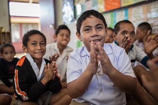 Students with a disability take part in The Inclusive Education (TIE) pilot program at Ngele'ia Primary School in Nuku'alofa, Tonga. | by DFAT photo library